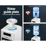 Devanti 22L Bench Top Water Cooler Dispenser Filter Purifier with Hot/ Cold/ Room Temperature Taps