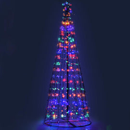 Jingle Jollys 3M LED Christmas Tree Lights 330 LED Xmas Multi Colour Optic Fiber