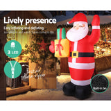 Jingle Jollys 2.4M Christmas Inflatables Santa Xmas Light Decor LED Airpower