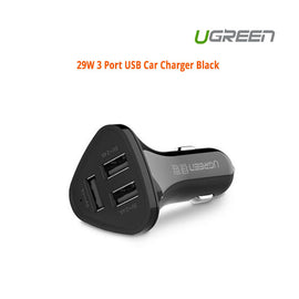 UGREEN 29W 3 Port USB Car Charger Black (40284)