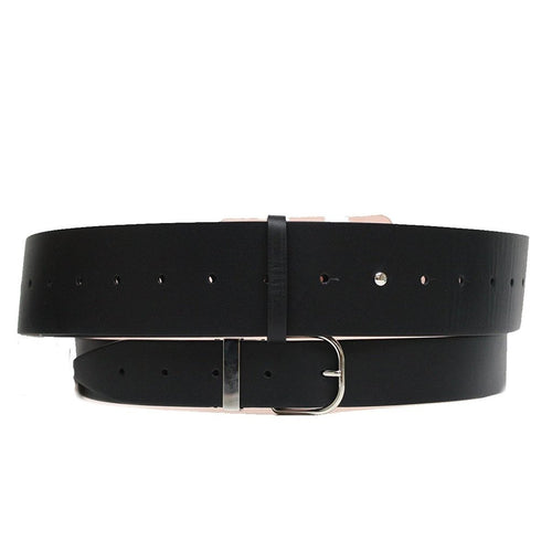 Balenciaga Buckle Wide Double Leather Belt
