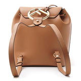 Fendi Brown Tan Backpack Gold Hardware Locket Calf Leather
