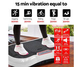Everfit Vibration Machine Plate Platform Body Shaper Home Gym Fitness White
