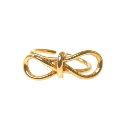 Balenciaga Gold Bow Ring