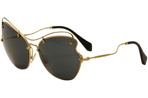 Miu Miu Prada Women's Black/Gold Sunglasses