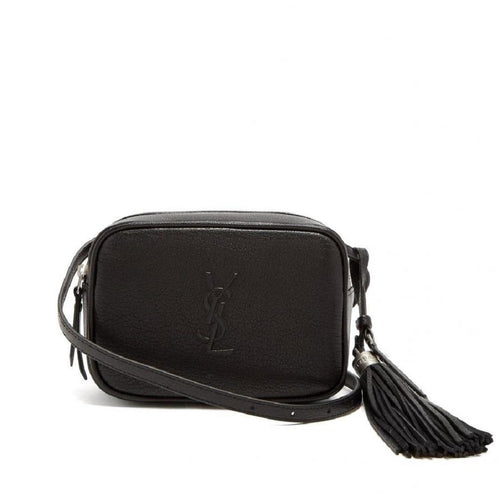 Saint Laurent Lou Belt Bag Black YSL Monogram Leather