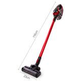 Devanti Cordless Stick Vacuum Cleaner - Black and Red - Terrific Buys