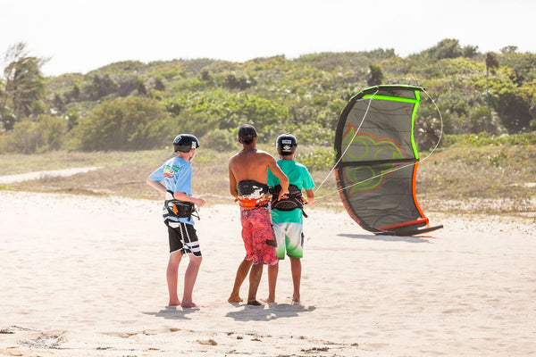 beginner kiteboarding lesson