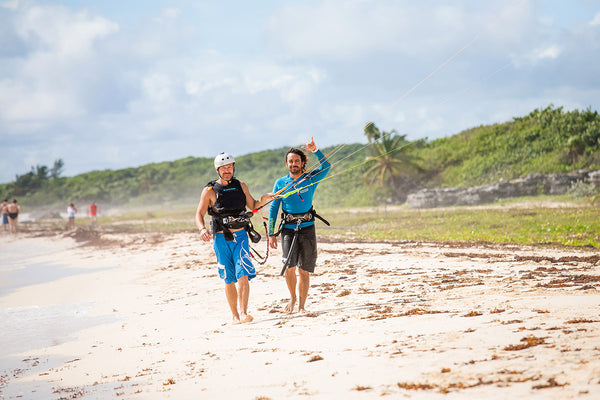 private kiteboarding student and instructor