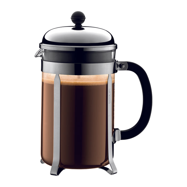 Bodum Chambord French Coffee Press 12-Cup Chrome - Modern Appliances