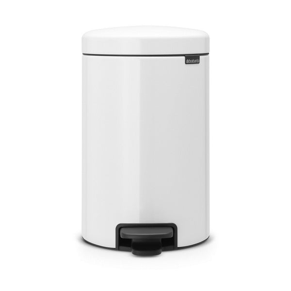 Brabantia newICON 12 Litre Pedal Bin with 20 bin bags - White - Modern Appliances