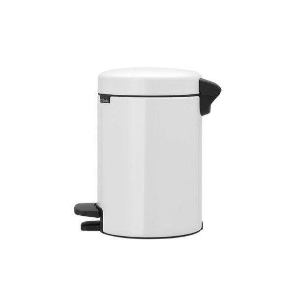 Brabantia newICON 3L Pedal Bin - White - Modern Appliances
