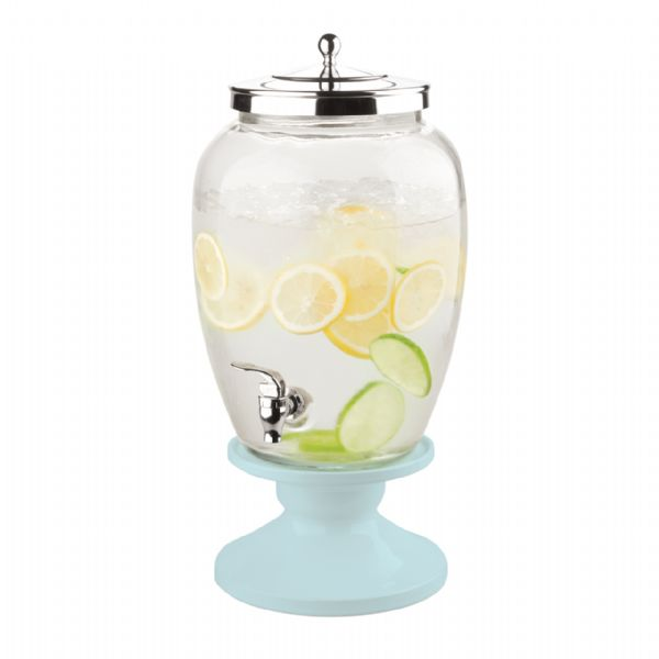 Celebrations Beverage Dispenser with Ceramic Base - Duck Egg Blue - Modern Appliances