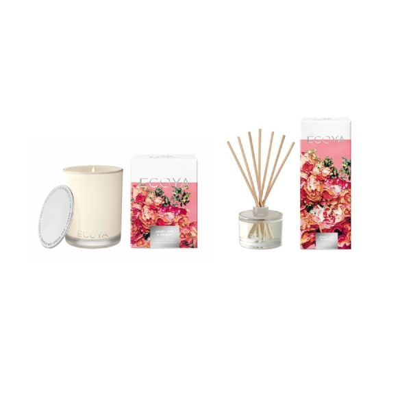 ECOYA Madison Candle & Diffuser Set - (Honey, Lime & Jasmine Summer Edition) - Modern Appliances