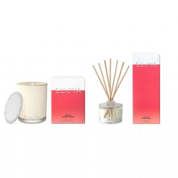 ECOYA Madison Candle & Diffuser Set (Guava & Lychee Sorbet) - Modern Appliances