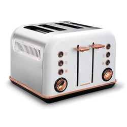 Morphy Richards Rose Gold' Accents 4 Slice Toaster - Modern Appliances