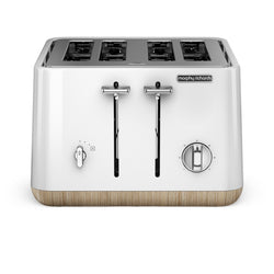 Morphy Richards Scandi White Aspect 4 Slice Toaster - Modern Appliances