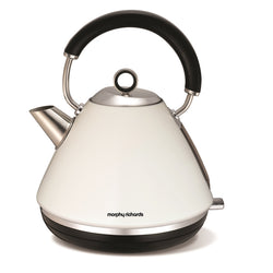 Morphy Richards Traditional Pyramid Kettle - White - Modern Appliances