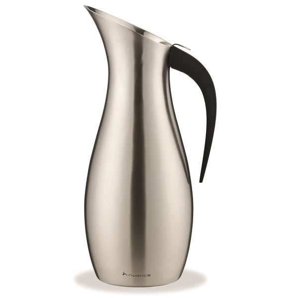 Nuance Penguin 1.7ltr Water Pitcher - Brushed Stainless Steel - Modern Appliances