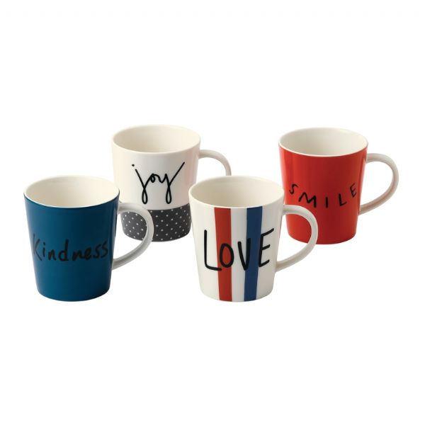 Royal Doulton ED Ellen DeGeneres collection - Mug 450ml Joy Set of 4 - Modern Appliances