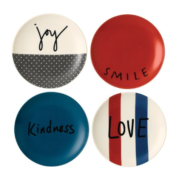 Royal Doulton ED Ellen DeGeneres collection - Plate 16cm Joy Set of 4 - Modern Appliances