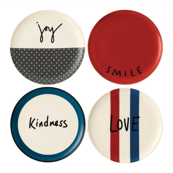 Royal Doulton ED Ellen DeGeneres collection - Plate 21cm Joy Set of 4 - Modern Appliances