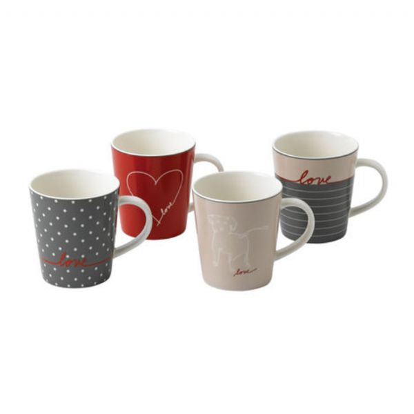 Royal Doulton Ellen DeGeneres - Signature Mugs, Set of 4 - Modern Appliances
