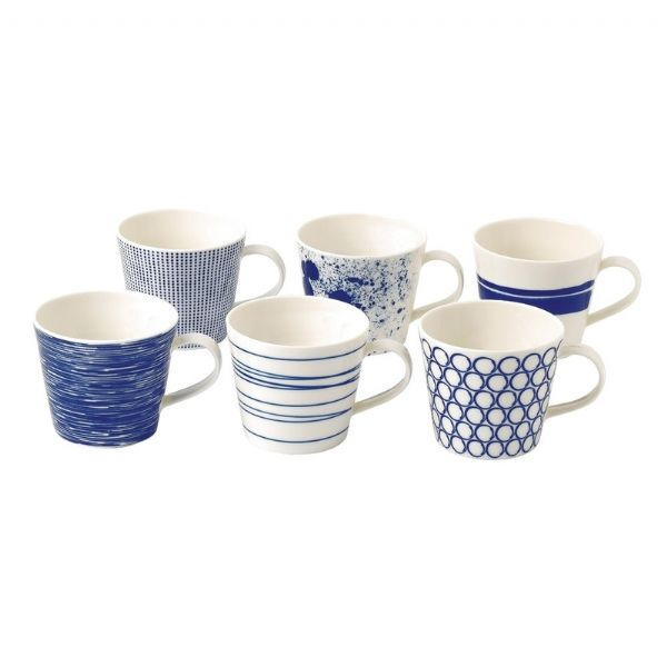 Royal Doulton Pacific Set of 6 Mugs 400ml - Modern Appliances