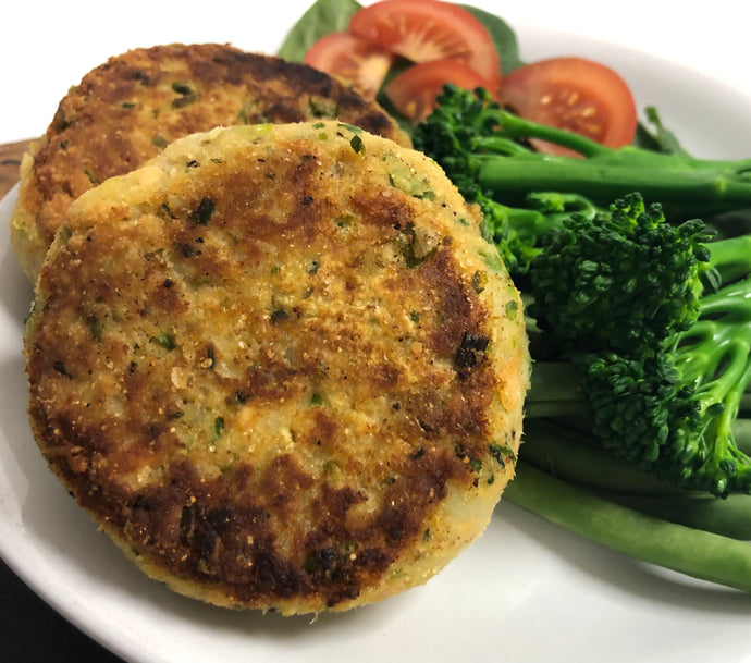 Vegan fishcakes; if you haven't tried cooking with seaweed yet, these are a must!