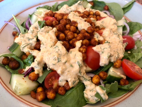 Chickpea shwarma salad- meal prep lunch