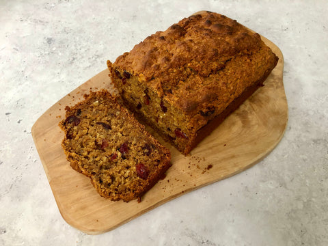 Cranberry, orange & carrot loaf
