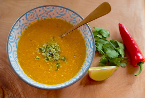 Carrot & coconut soup_lunch_New Norm