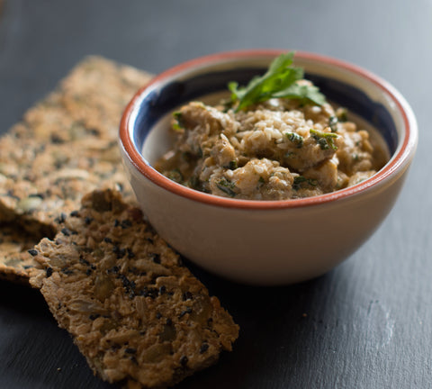 New Norm babaganoush (creamy aubergine dip)