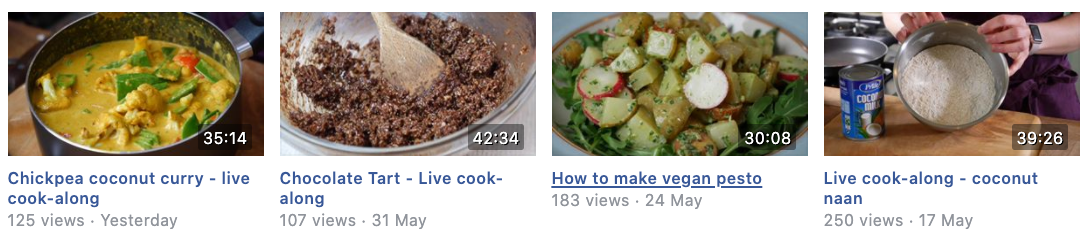 Live cook-along