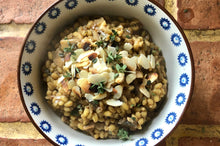 Load image into Gallery viewer, Wild mushroom & garlic barley risotto