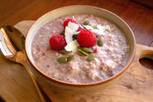 Load image into Gallery viewer, Peanut butter & raspberry bircher