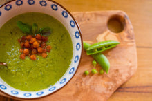 Load image into Gallery viewer, Pea and mint soup