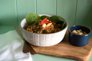 Cashew and spinach stew