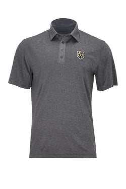 AFFIRMED POLO-POLO-LEVELWEAR-S-Heather Grey/Black-FiveHoleClothing.com