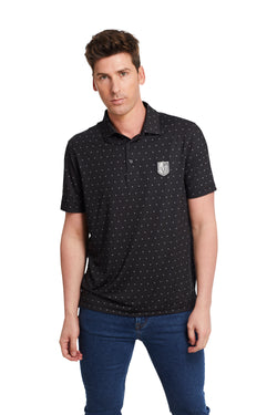 REPEAT POLO (MEN'S)-POLO-LEVELWEAR-S-Black-FiveHoleClothing.com
