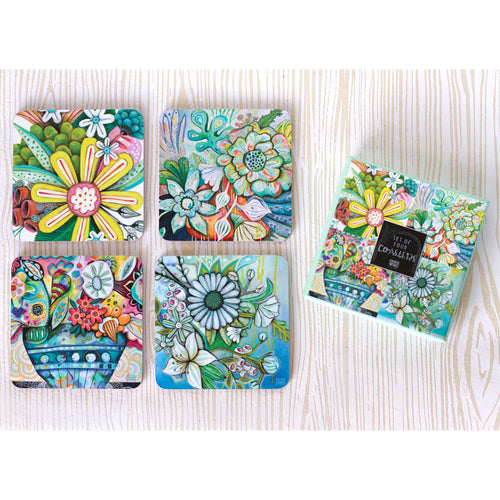 Bountiful Blooms Coaster Set by Allen Designs