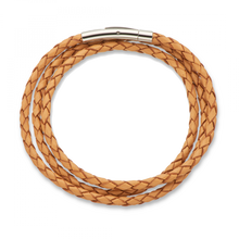 Load image into Gallery viewer, Palas Fine leather plaited wrap bracelet
