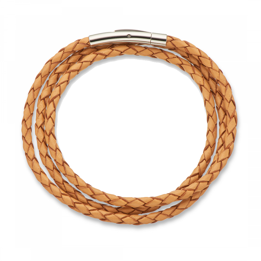 Palas Fine leather plaited wrap bracelet