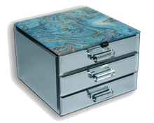 Load image into Gallery viewer, Fortune Of Blue Jewellery Box - 2 Drawer