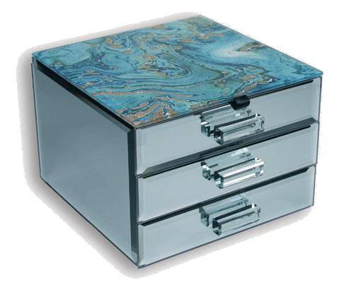 Fortune Of Blue Jewellery Box - 2 Drawer
