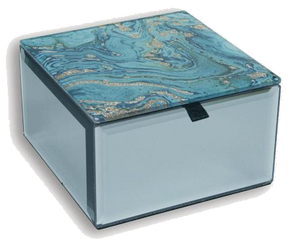 Fortune Of Blue Trinket Box