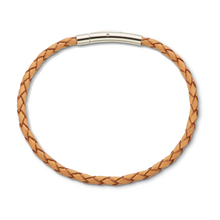 Load image into Gallery viewer, Palas Fine Leather Plaited Bracelet (Natural)