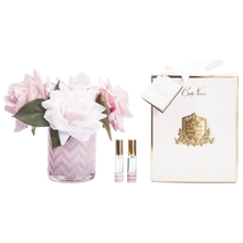 Load image into Gallery viewer, Côte Noire Perfumed Pink Roses in Pink Herringbone