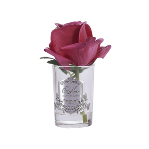 Côte Noire Perfumed Natural Touch Rose Bud in Clear - Carmine Red