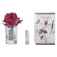 Load image into Gallery viewer, Côte Noire Perfumed Natural Touch Rose Bud in Clear - Carmine Red